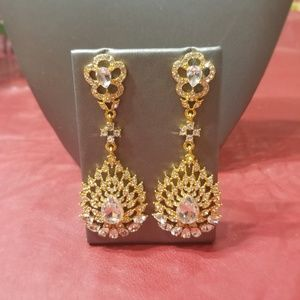 Florasfantasies, Chandlier Earrings, Crystal